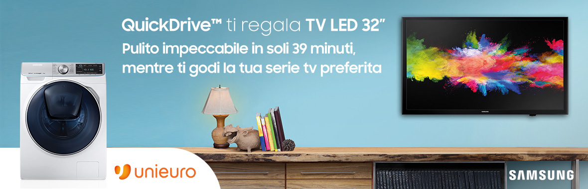 QuickDrive™ ti regala TV LED 32''