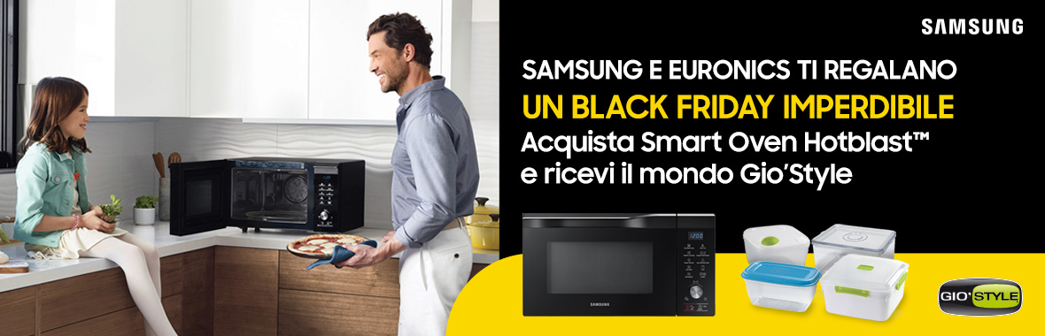 Samsung e Euronics ti regalano un black friday imperdibile